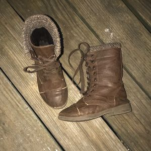 Other - Brown combat boots